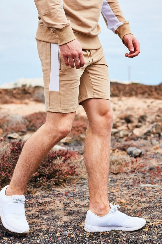 Jog Shorts With Side Panel