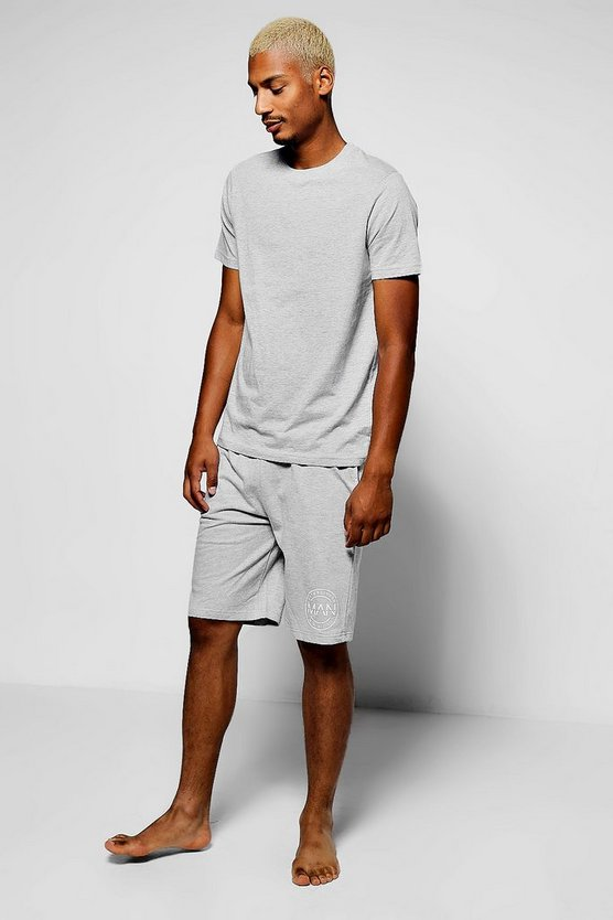 MAN Branded Loungewear Short & T-Shirt Set