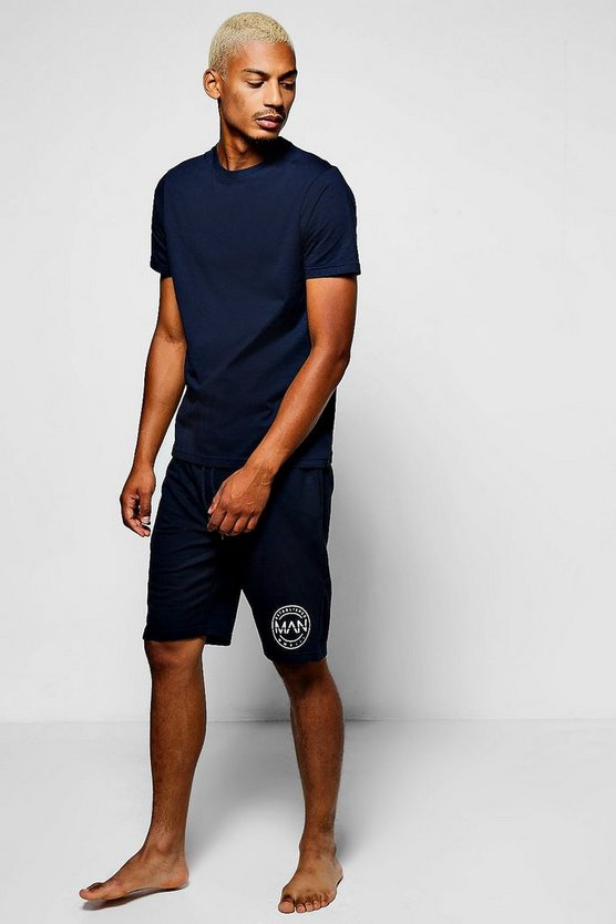 MAN Branded Lounge Wear Short & T-Shirt Set