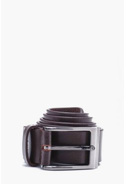 Mens Brown Real Leather Belt