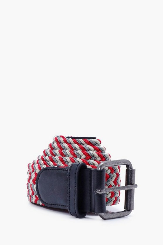 Multi Coloured Plaited Belt