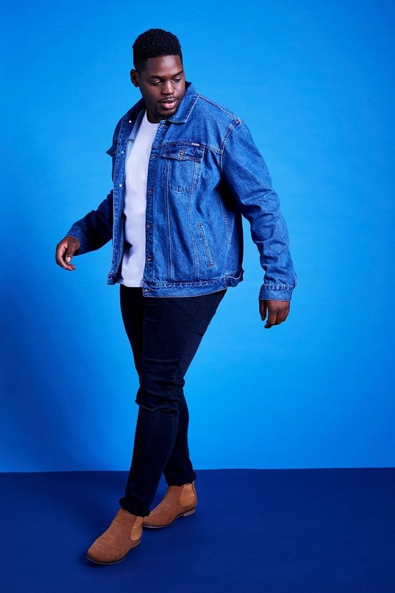 Big and Tall Blue Wash Denim Jacket
