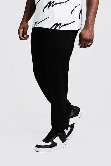 Mens Black Big and Tall Basic Skinny Fit Jogger