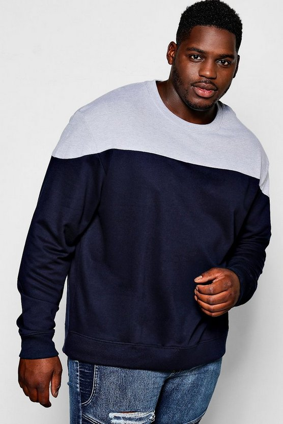 Big and tall sweat colorblock