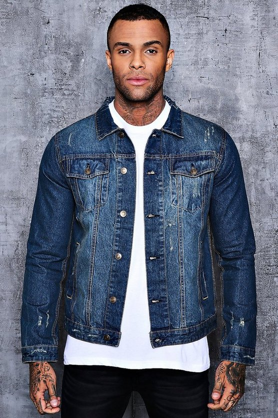 Washed Blue 4 Pocket Denim Jacket