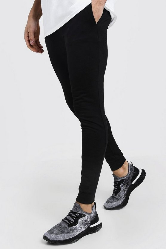 Mens Black Super Skinny Joggers