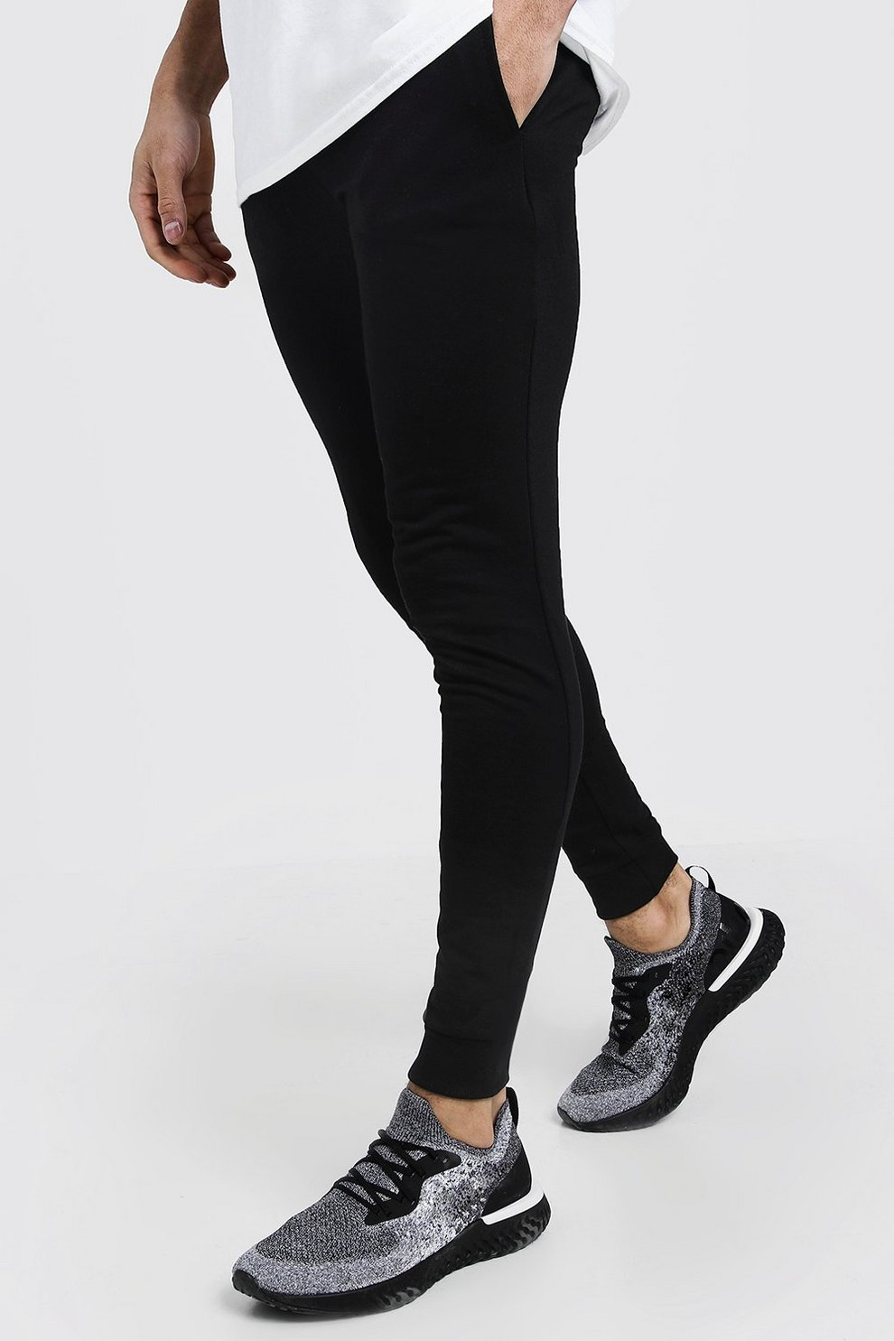 ad6963f8540c71 Mens Black Super Skinny Joggers. Hover to zoom