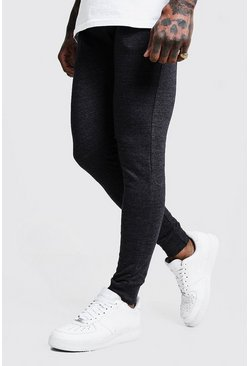 Mens Charcoal Super Skinny Joggers