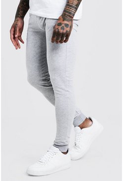 Mens Grey Super Skinny Joggers