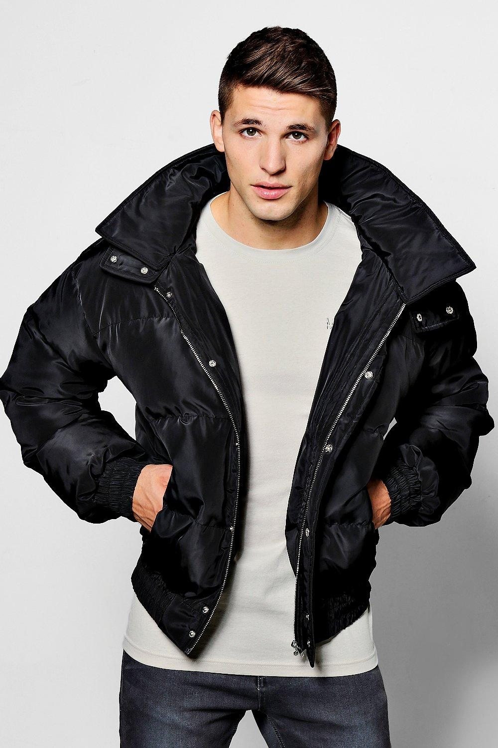 36c57c042 Quilted Puffer Jacket In Short Length | Boohoo