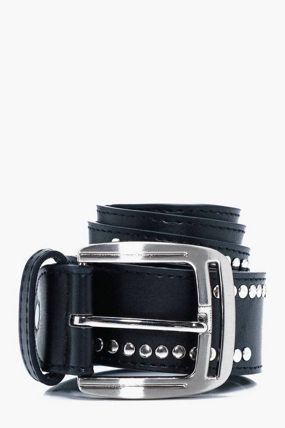 Metal Studded PU Belt