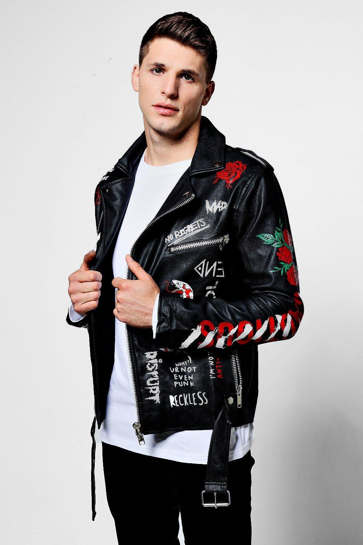 Graffiti Leather Jacket