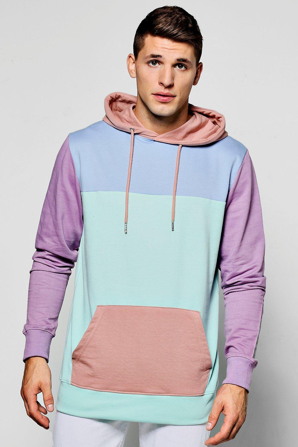 7db9278426e ... Panelled Colour Block Hoodie. Hover to zoom