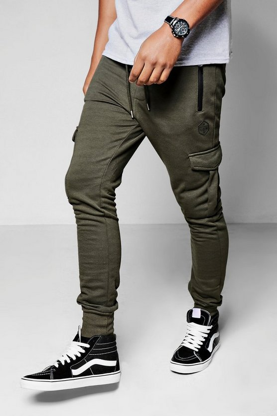 Skinny Fit Cargo Joggers
