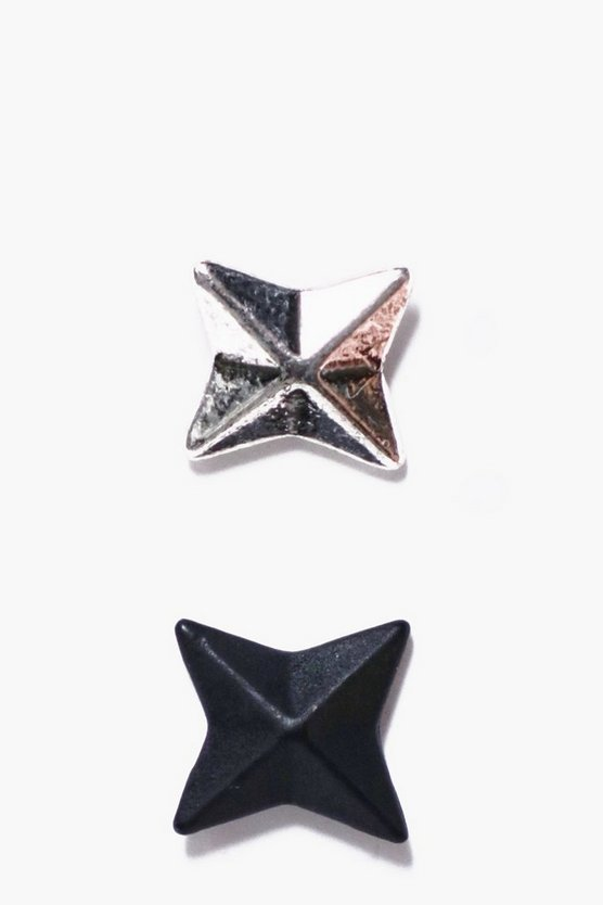 2 Pack Star Stud Earrings