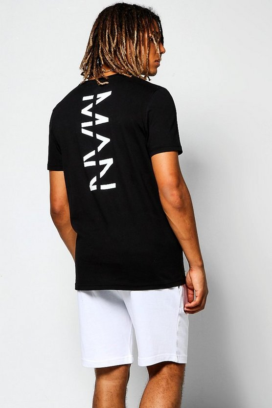 Crew Neck T-Shirt With MAN Back Print