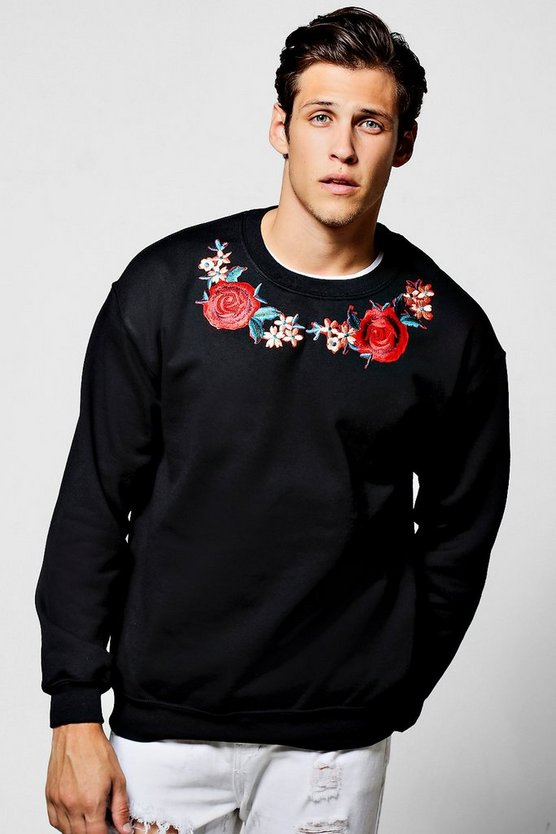 Twin Rose Embroidered Sweater