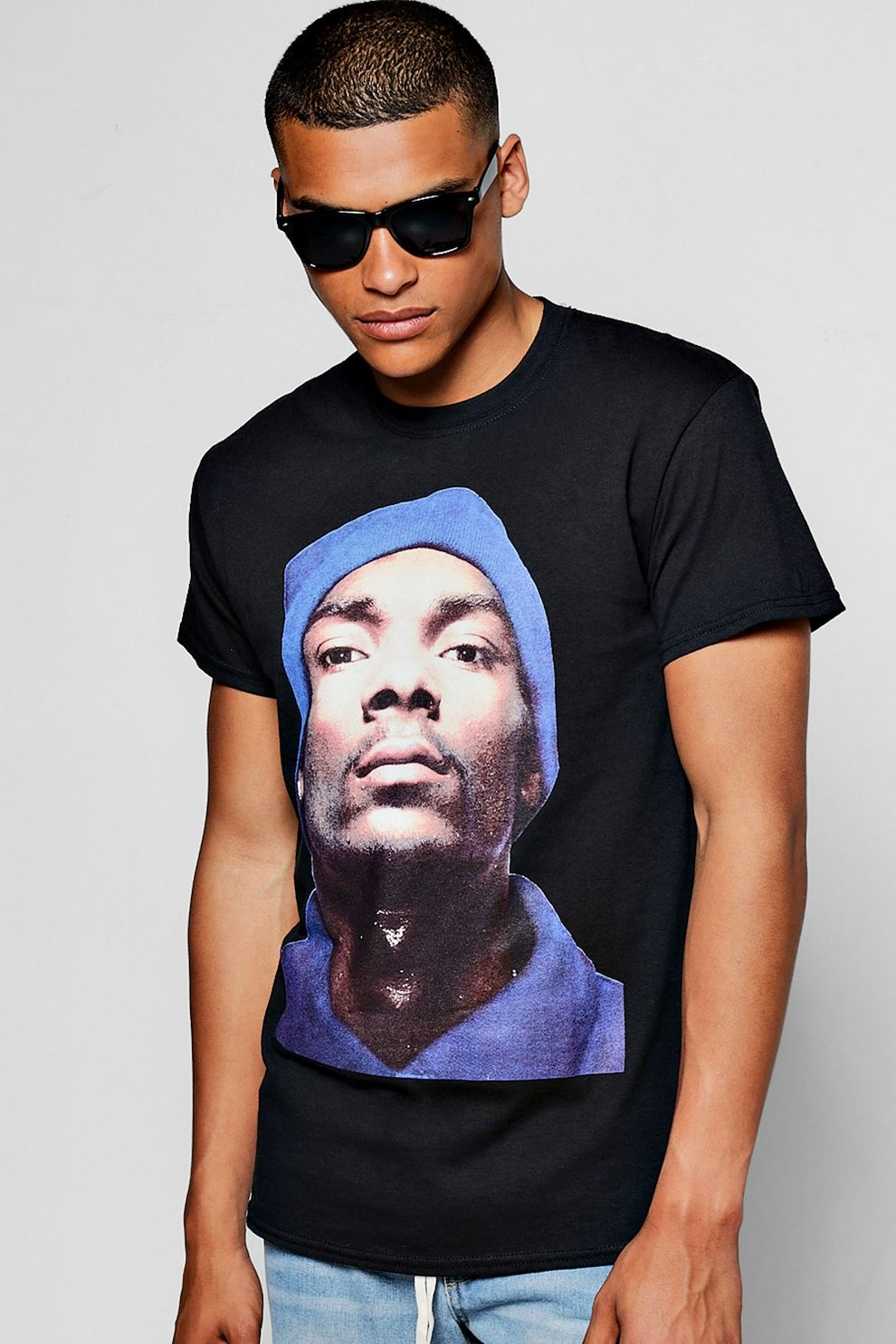 babbed02 Crew Neck Snoop Dogg Licence T-Shirt | Boohoo