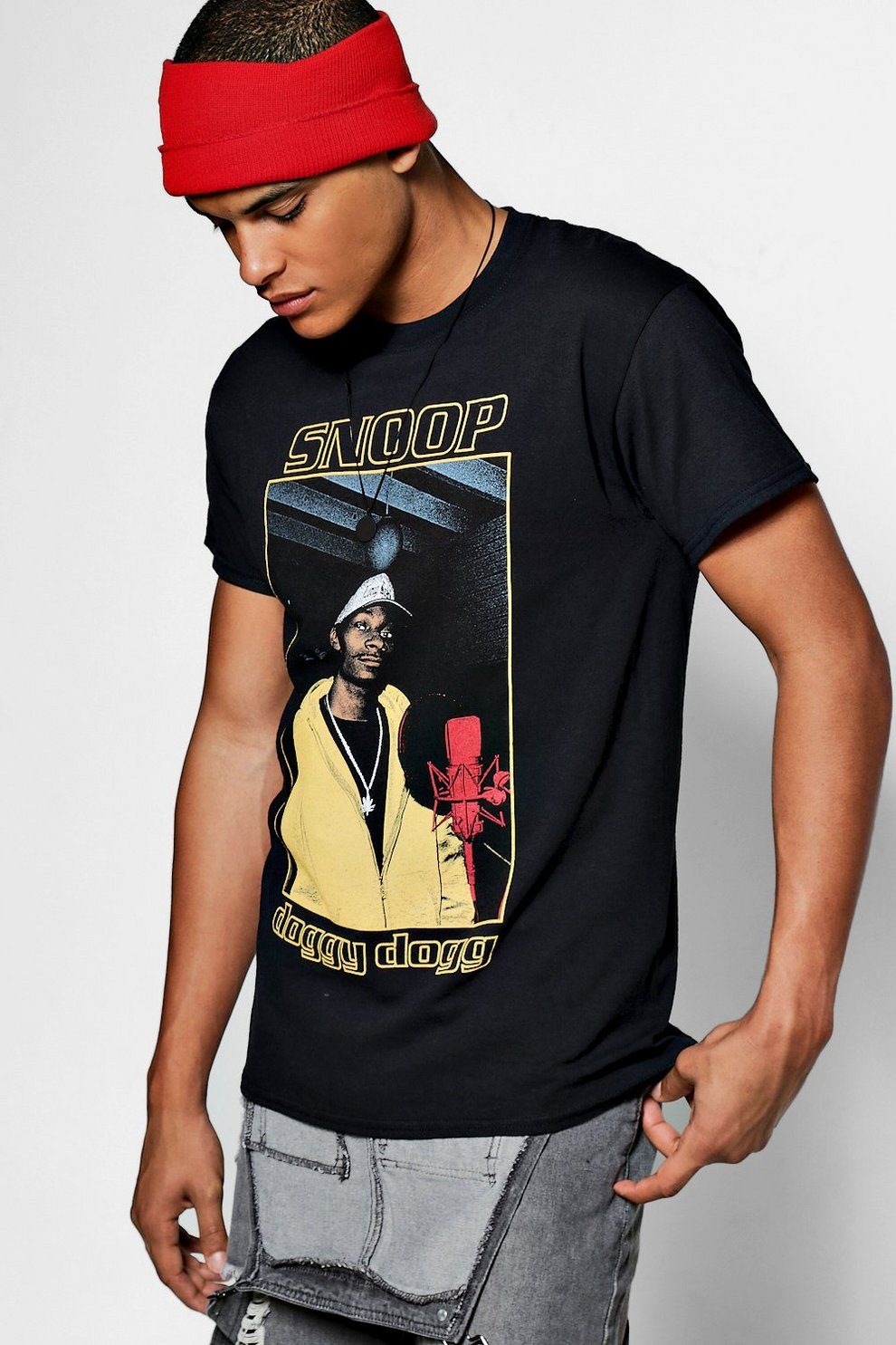 e89658c4 Mens Black Snoop Doggy Dogg Licence T-Shirt. Hover to zoom