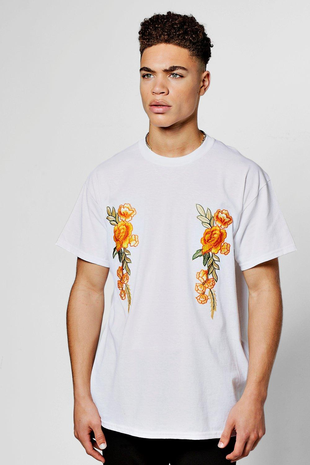 aa5be87d Bright Floral Embroidered T-Shirt | Boohoo