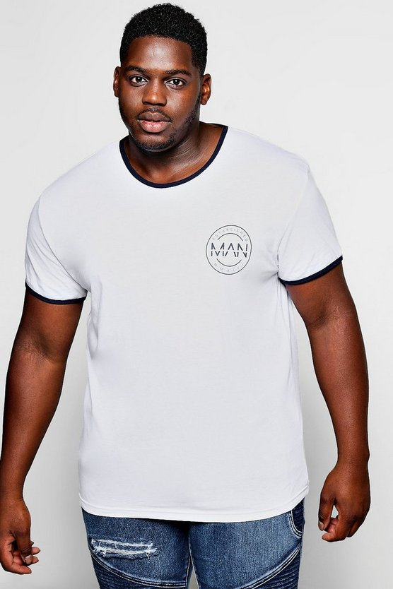 Big and tall chemise logo man