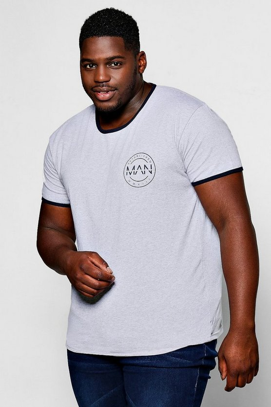 big and tall t-shirt logo man