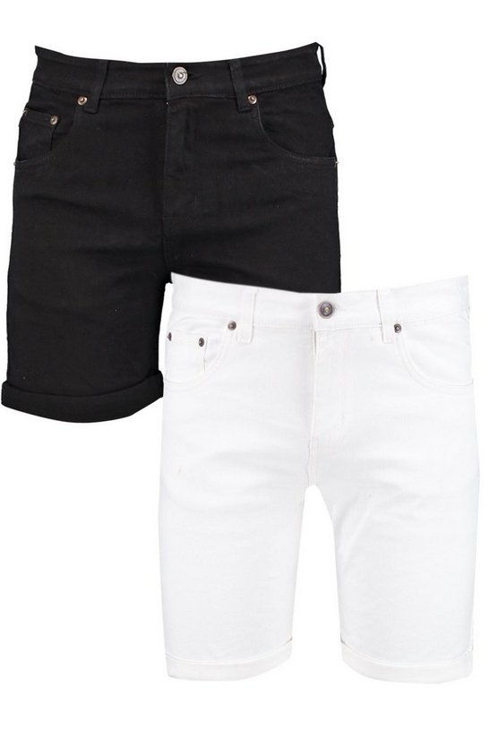 2 Pack Skinny Fit Denim Shorts