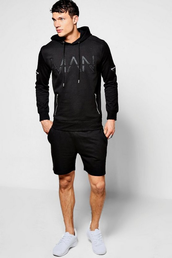 MAN Hooded Short Tracksuit
