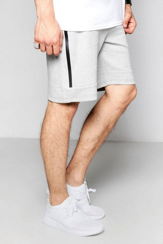 Zip Pocket Mid Length Jersey Shorts
