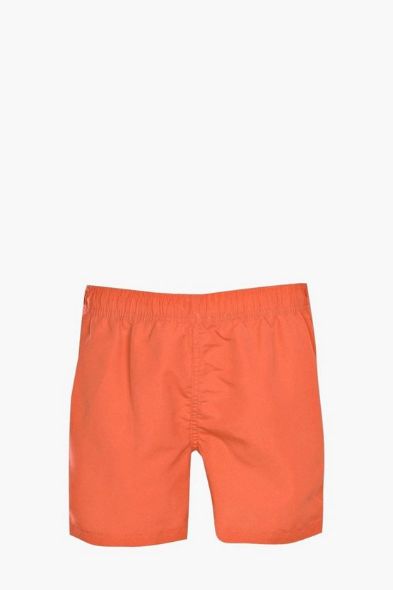 Amber Plain Mid Swim Short