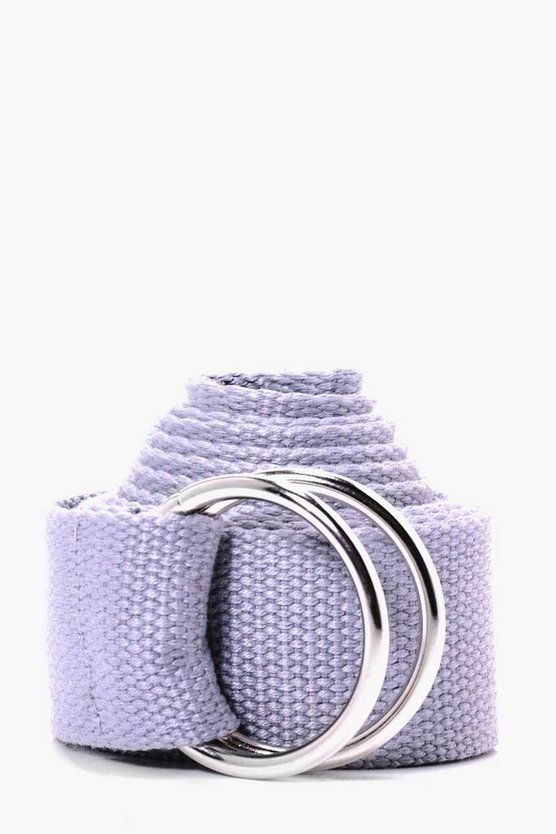 Grey XL Canvas Ring Fasten Belt