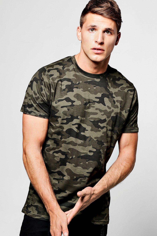36564a3e2 All Over Camo Print T Shirt. Hover to zoom