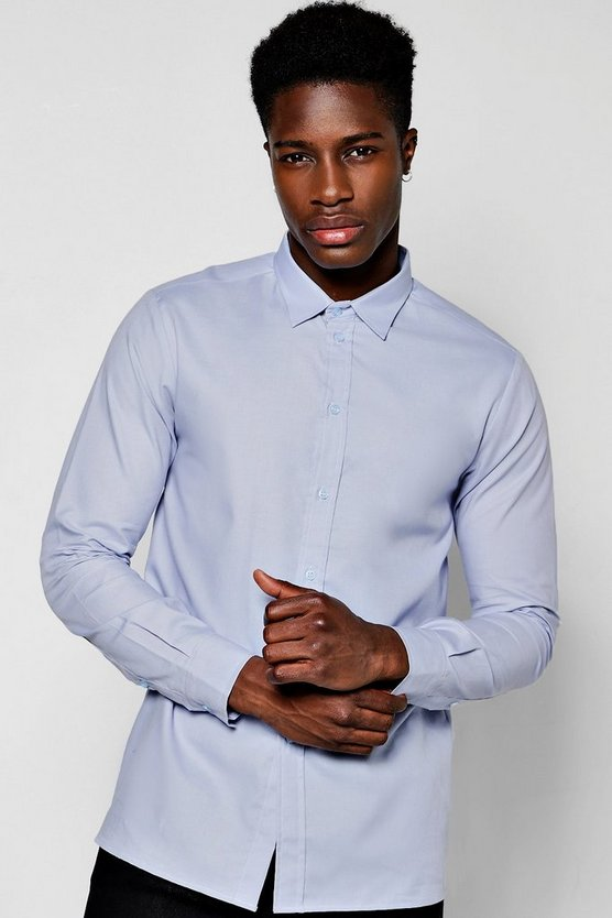 Blue Long Sleeve Oxford Shirt