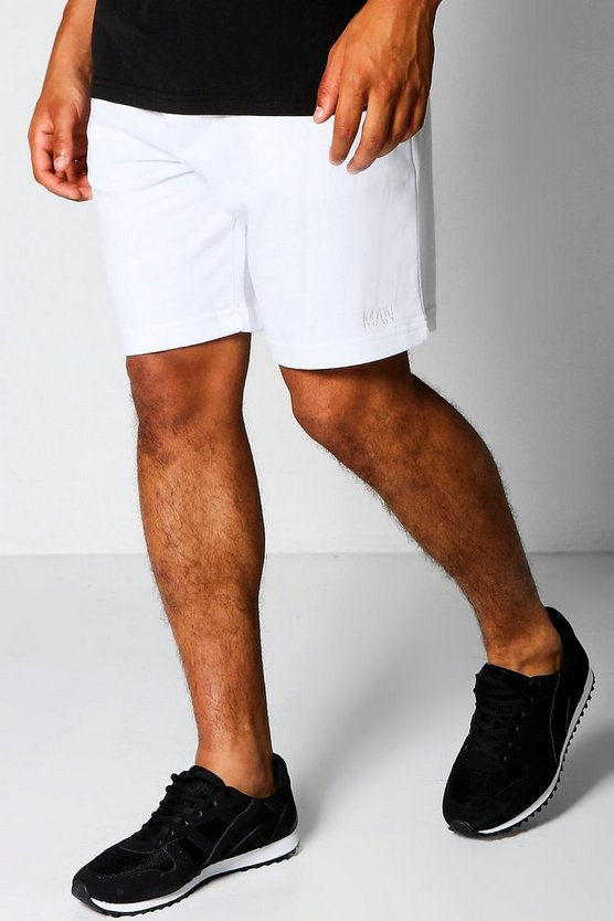 MAN Mid Length Jersey Shorts