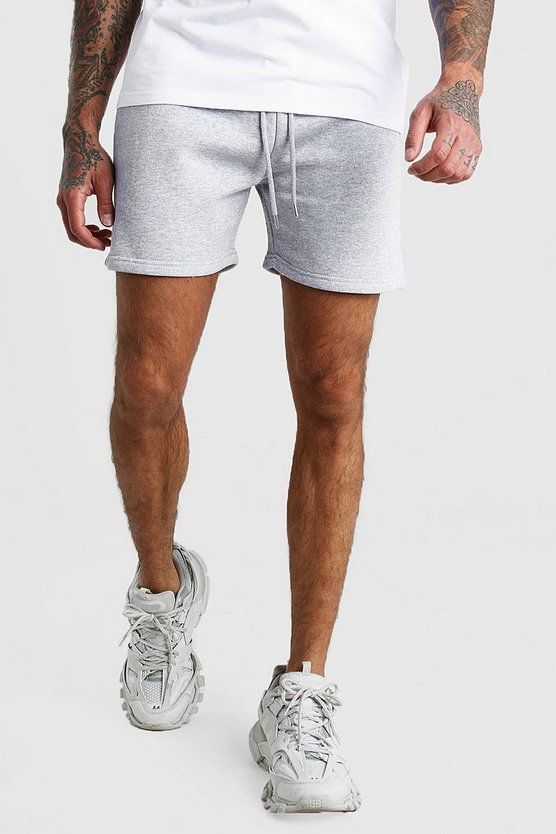 Grey Short Length Jersey Shorts