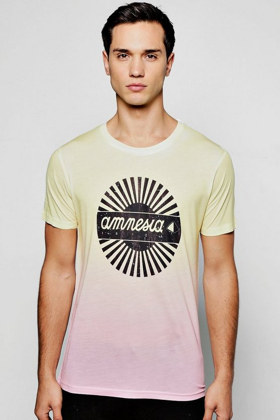 Amnesia License Ombre T Shirt