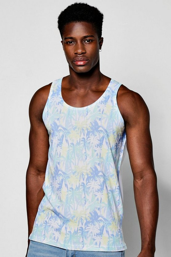 All Over Print Palm Tree Sublimation Vest