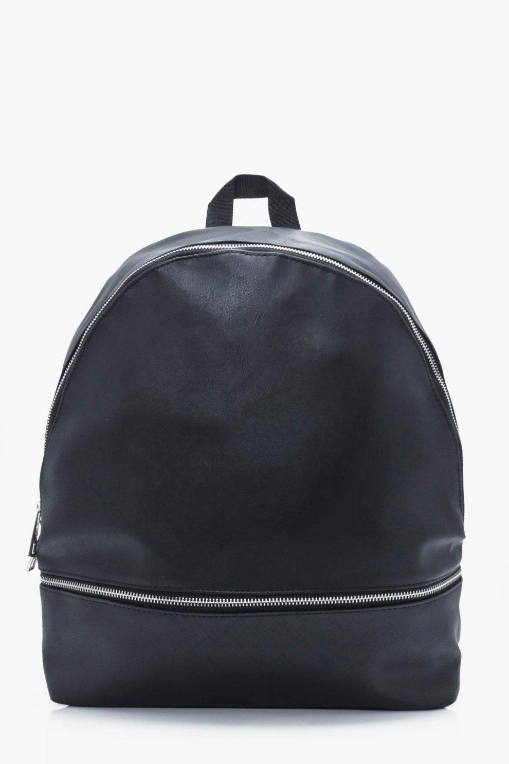 Boohoo en sac synthétique à dos noir cuir qv81zBxwF