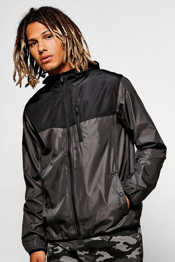 Charcoal Panel Zip Through MA1 Cagoule