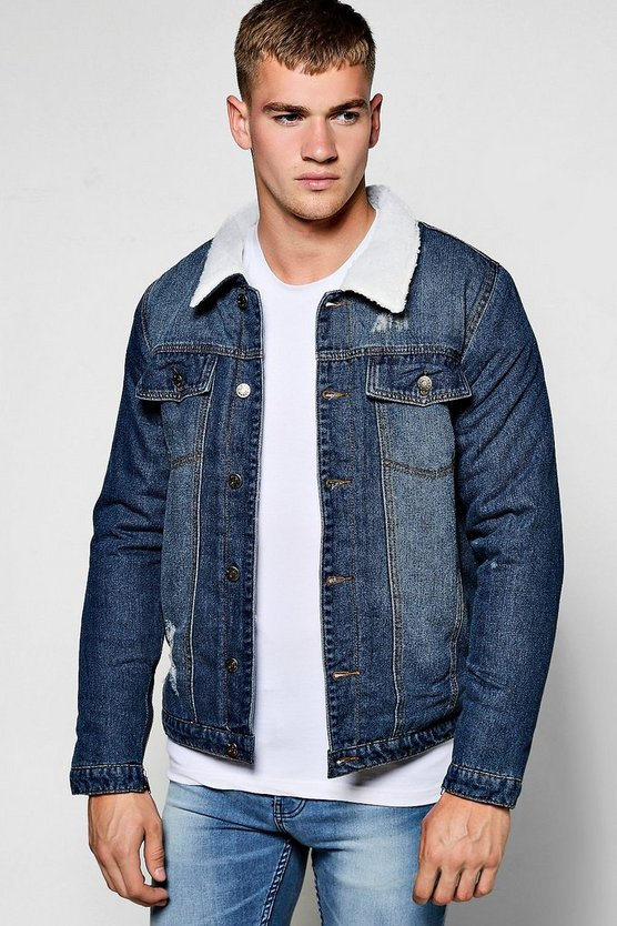 Fully Borg Lined Denim Jacket