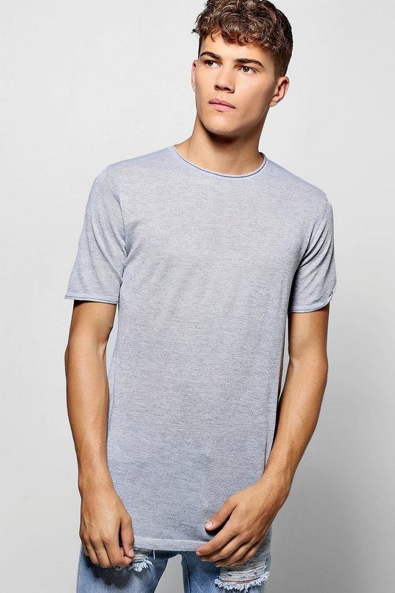 Fine Gauge Knitted Marl T Shirt