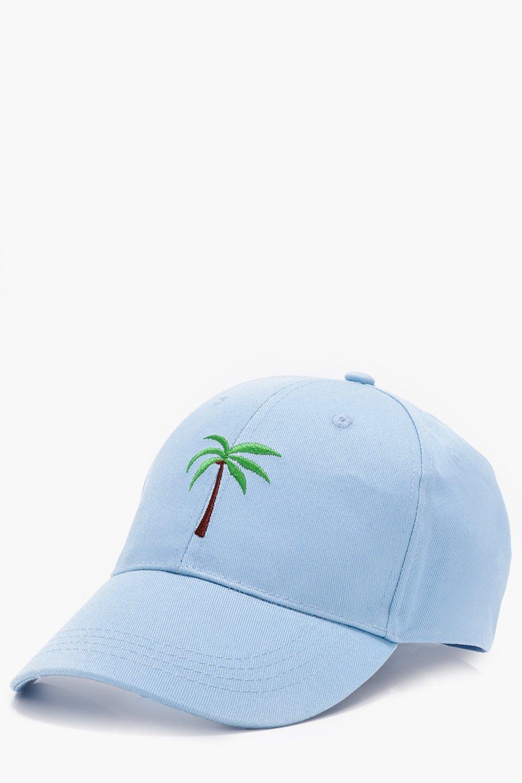 meilleure qualité aliexpress vente officielle casquette à bride arrière brodée palmier | Boohoo
