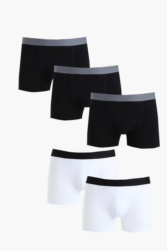 5 Pack Mixed Boxers Shorts
