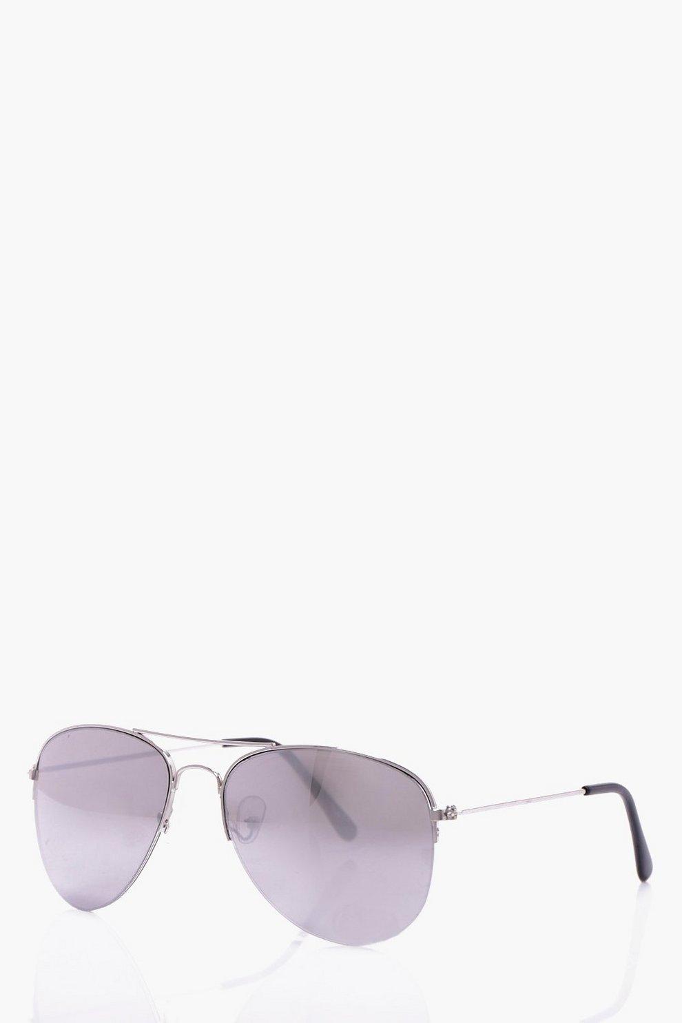 ee1ef22840 Silver Frame Classic Aviator Sunglasses