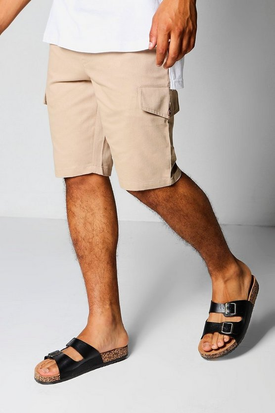 Sand Slim Fit Cargo Shorts