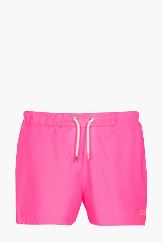 Bright Pink Short Swim Short