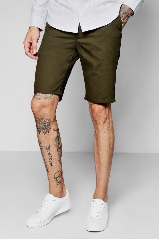 Short Chino coupe ajustée kaki
