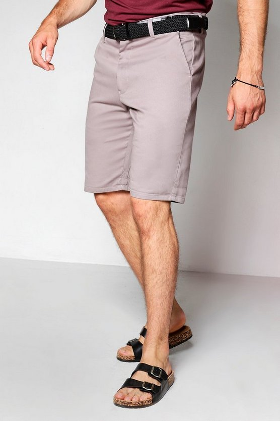 Slate Slim Fit Chino Shorts