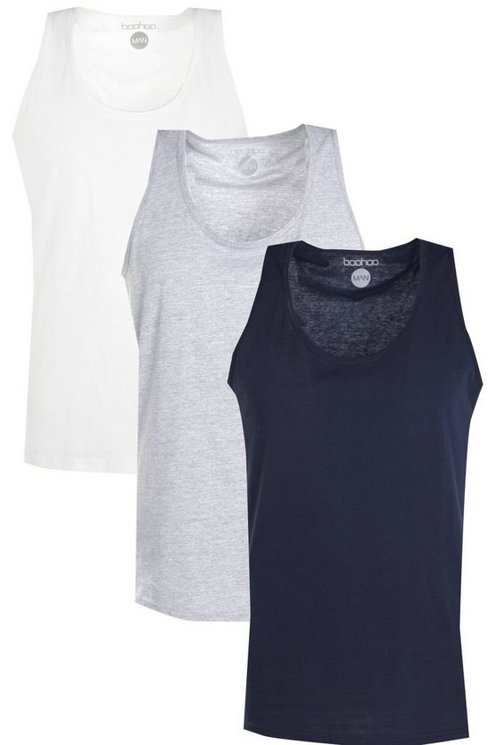 3 Pack Basic Vests