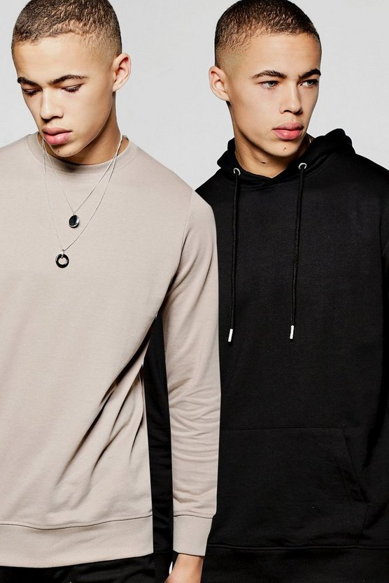 2 Pack Sweatshirt And Over The Head Hoodie